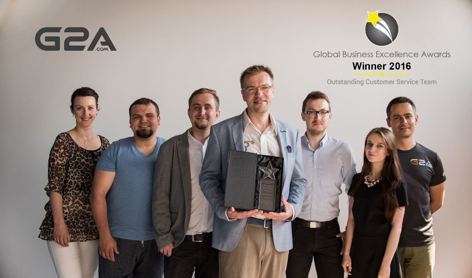 G2A.COM Limited Wins Outstanding Customer Service Team from Global Business Excellence Awards 2016