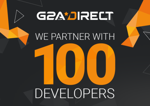 G2A is now partnered with 100 developers and publishers