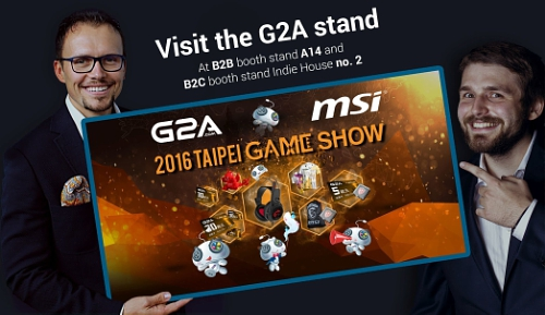 G2A Officially Opens Taipei Game Show 2016