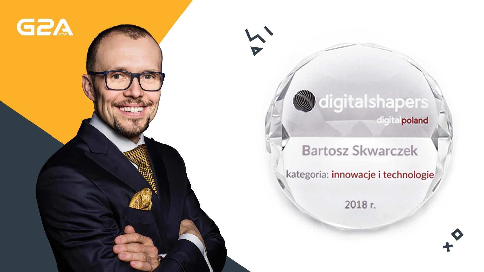 Cyfrową rewolucję mamy we krwi  - Bartosz Skwarczek, prezes G2A, nagrodzony tytułem Digital Shaper