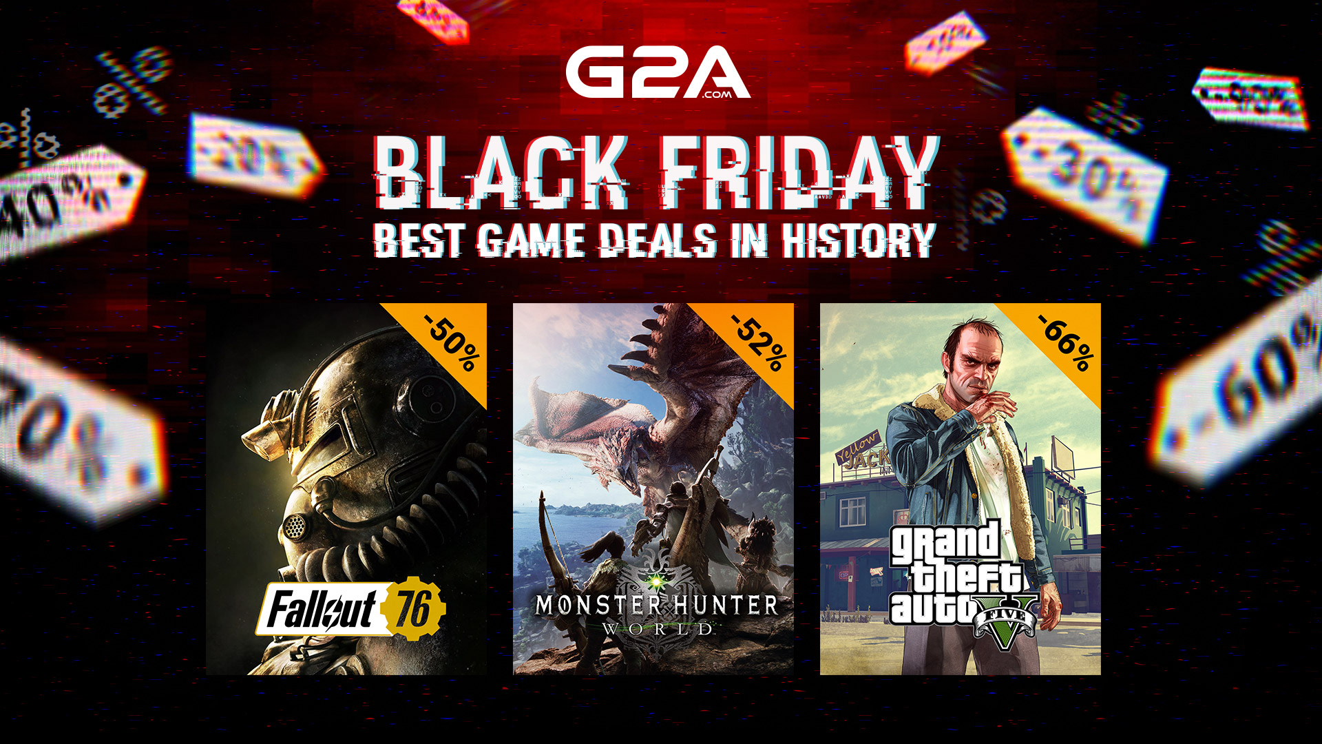 The best game deals in history – Black Friday on G2A.COM