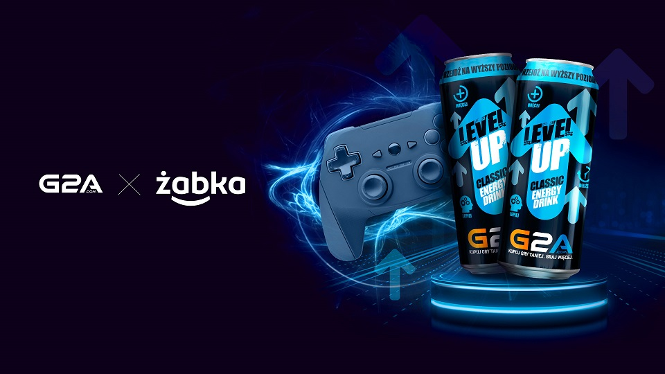 Limited-edition drink Level Up with G2A logo, only at Żabka