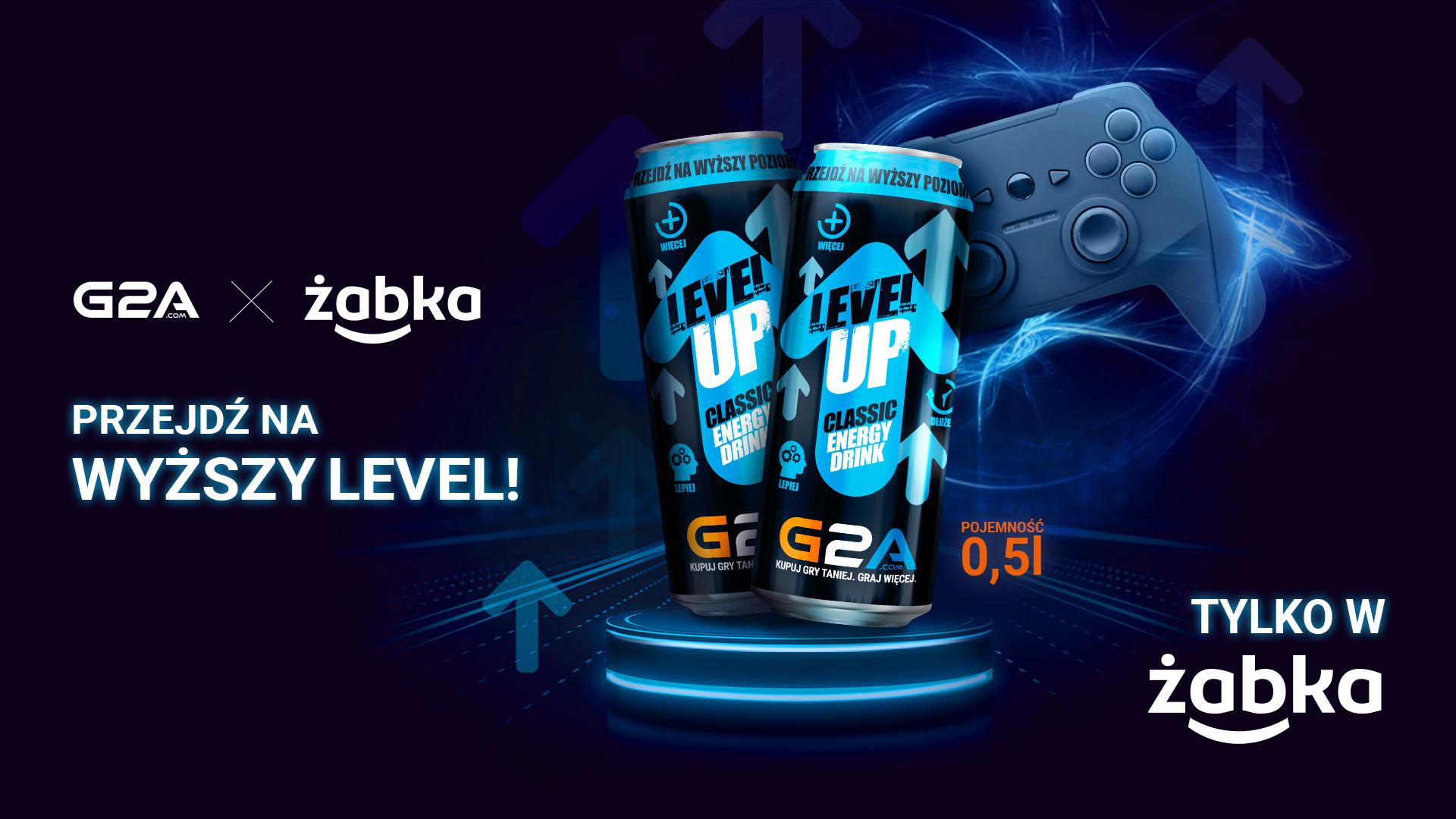 Limitowana edycja napoju Level Up z logo G2A, tylko w Żabce