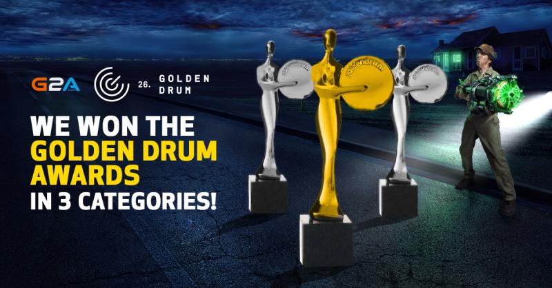 Kampania marketingowa G2A zdobyła trzy statuetki podczas Golden Drum Festival!