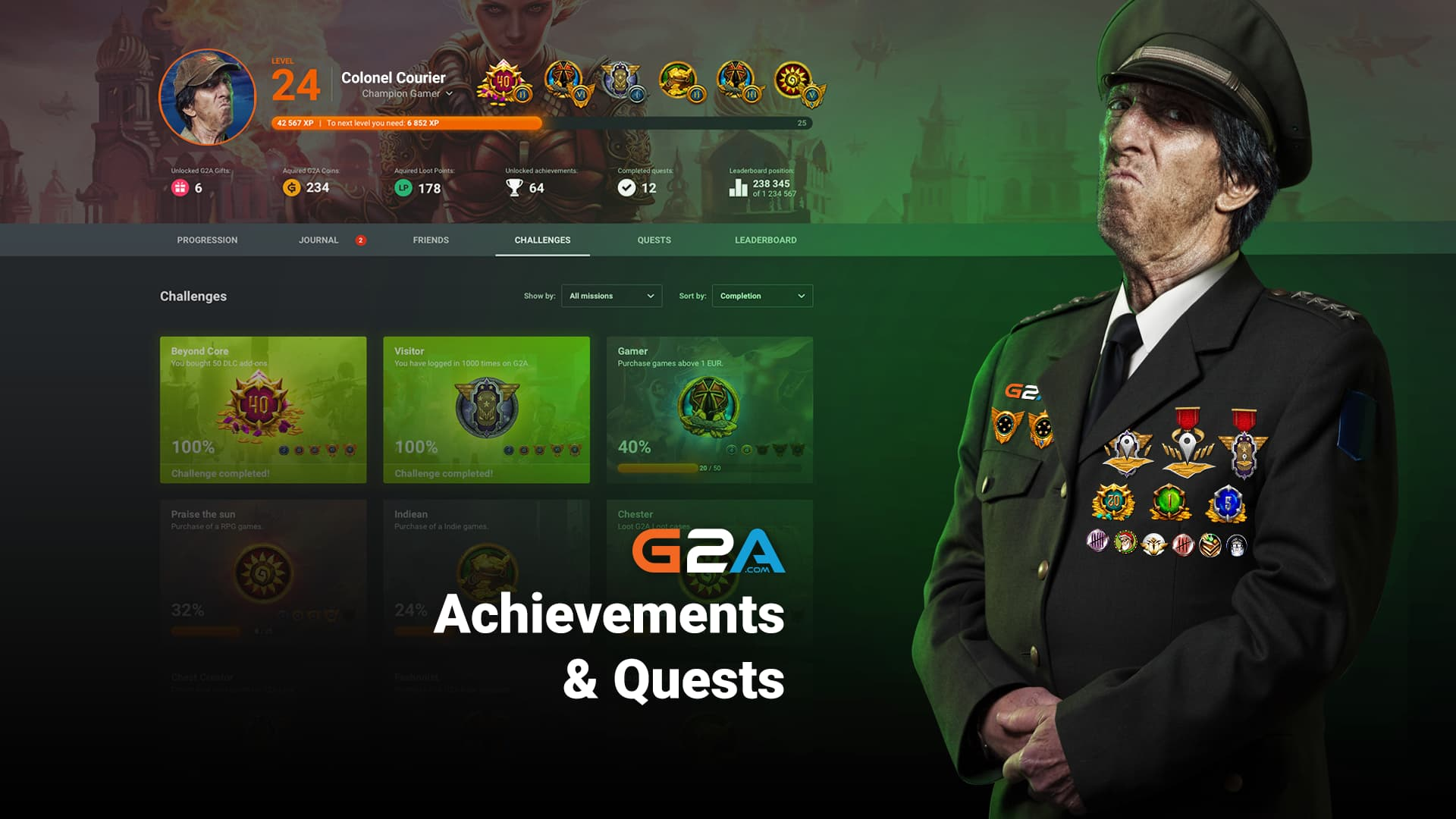 A new, interactive achievement system for G2A users is live!