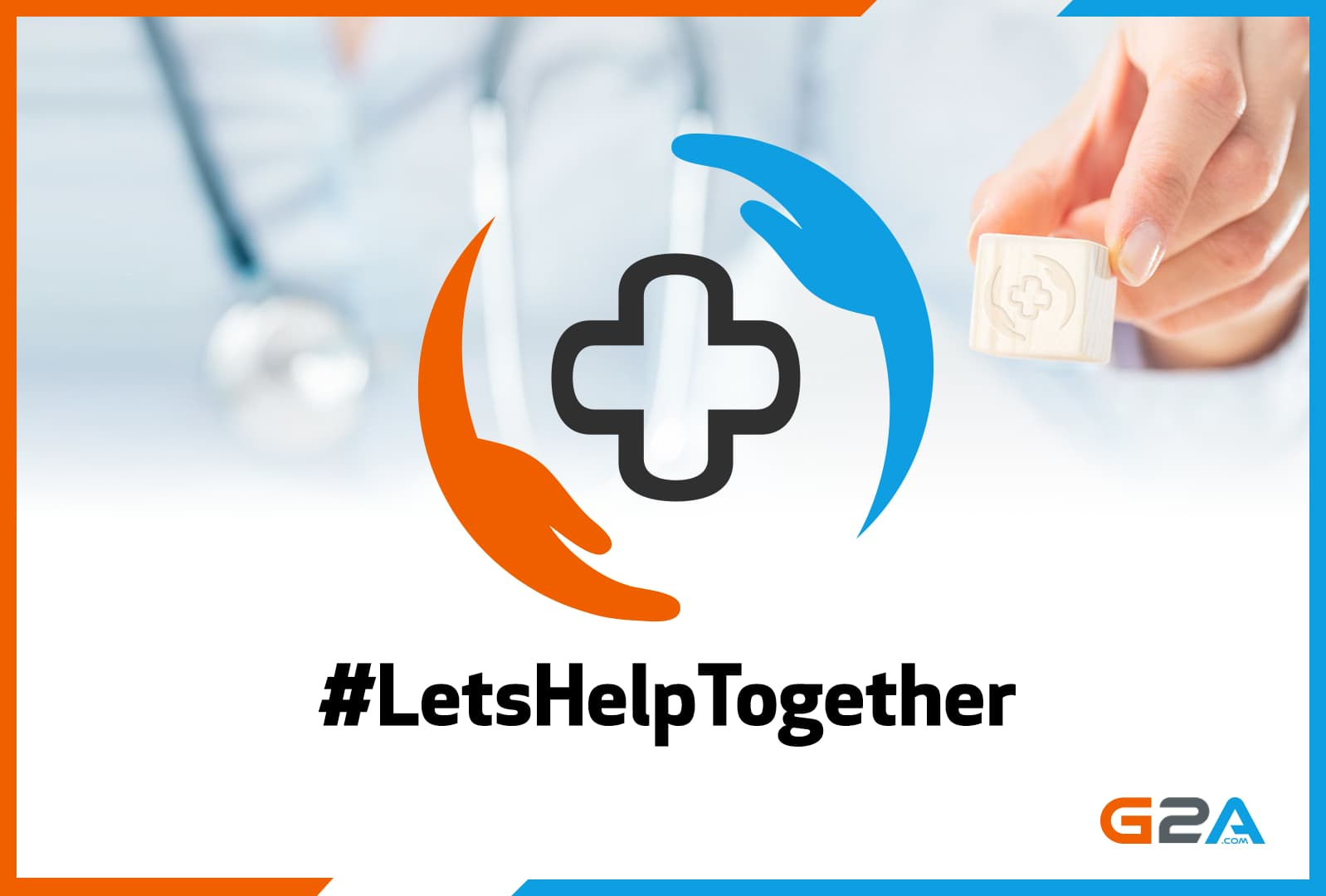G2A offers to build free online platforms for charities all over the world. #LetsHelpTogether globally!