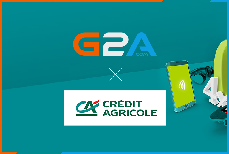 G2A and Credit Agricole join forces to offer bank accounts for gamers