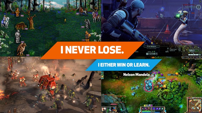 never lose either win or learn
