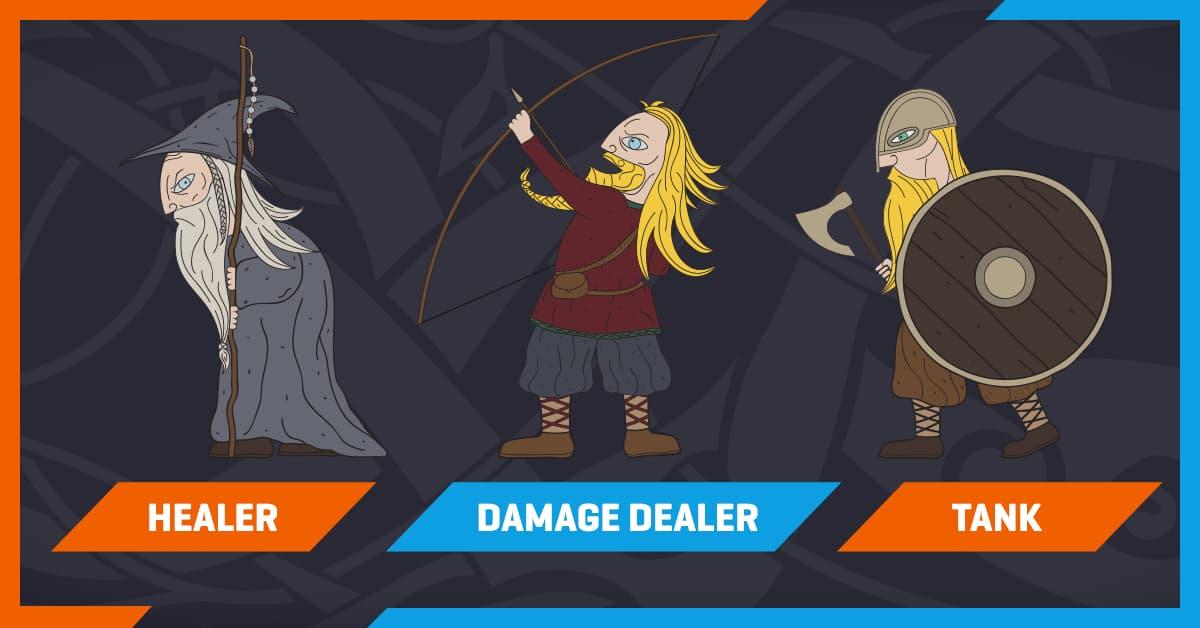 healer damage tank team
