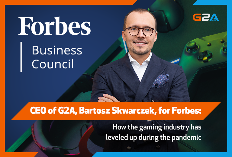 G2A's CEO Bartosz Skwarczek for Forbes: How did the pandemic affect the gaming industry?
