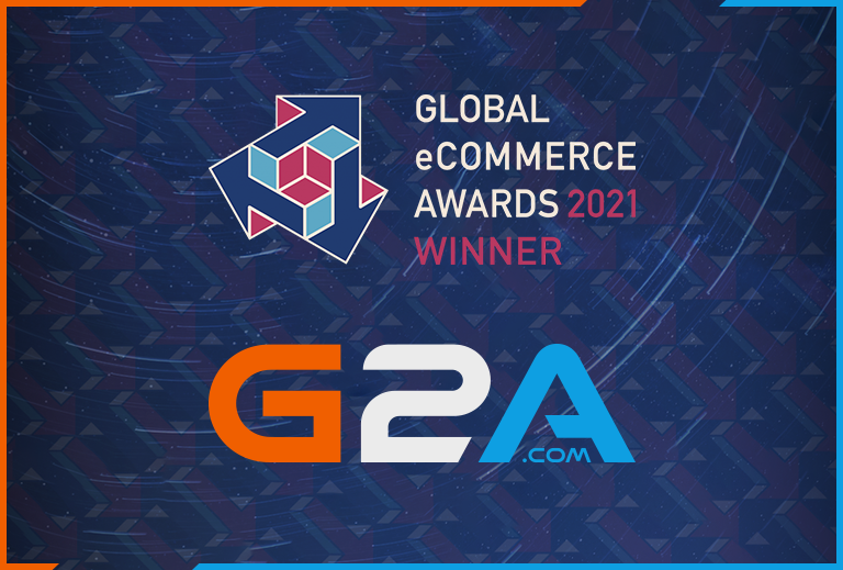 G2A.COM WINS GLOBAL GAMES ECOMMERCE WEBSITE OF THE YEAR 2021 AT GLOBAL ECOMMERCE AWARDS